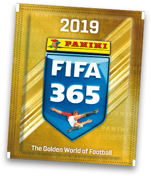 "Panini FIFA 365 ""The golden World of Football"" Sticker (2019) - Stickertüte ( 5 Sticker )"