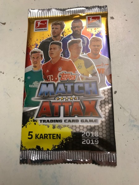 Topps Match Attax Bundesliga 18/19 - Booster (5 Karten)