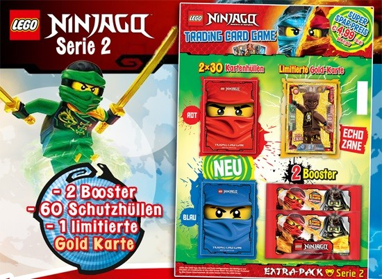 Lego Ninjago Trading Cards - SERIE 2 (2017) - EXTRA PACK