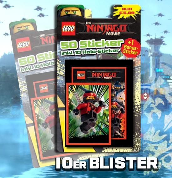 LEGO Ninjago Movie Sticker (2017) - Blister ( mit 1 von 6 Bonusstickern)