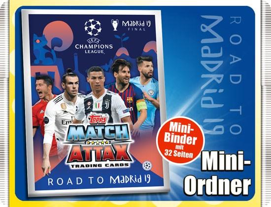 "Match Attax CL 18/19 ""Road to Madrid"" - Sammelordner"