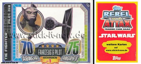 Rebel Attax - Serie 1 (2015) - TIE FIGHTER / ZEB - Nr. 132 ( Super-Boost )