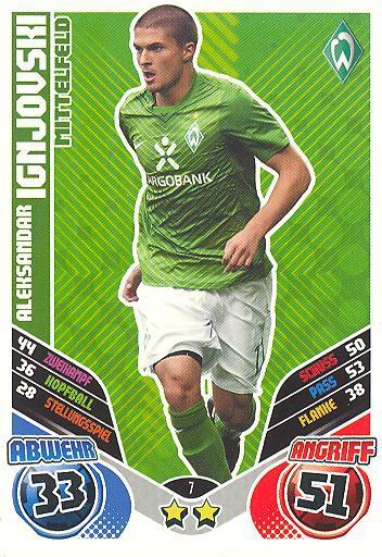 Match Attax 11/12 Extra - ALEKSANDAR IGNJOVSKI - Werder Bremen - Nr. 7