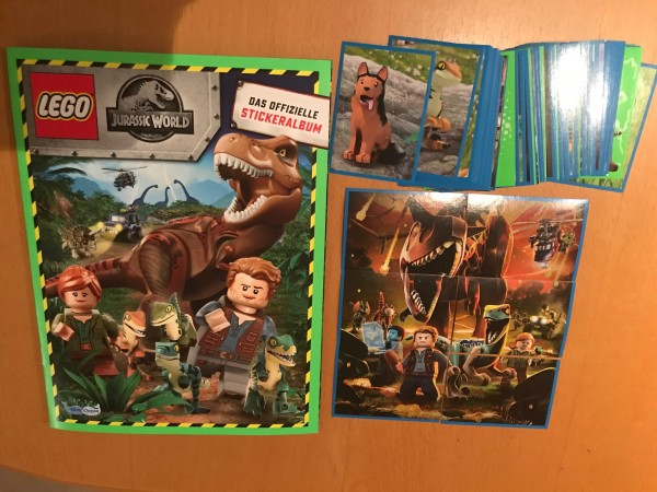 "LEGO ""Jurassic World"" (2019) - komplettsatz ( alle 160 Sticker + Album )"