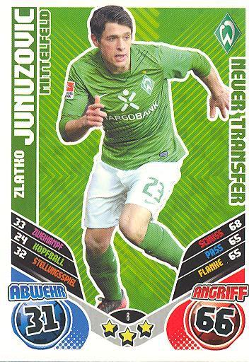 Match Attax 11/12 Extra - ZLATKO JUNUZOVIC - Werder Bremen - Neuer Transfer - Nr. 8