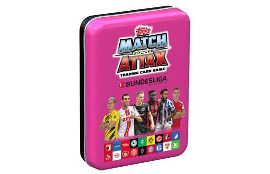"Topps Match Attax Bundesliga 2020/21 - Mini-Tin Dose ""pink""( 44 Karten + 1 Limitierte Karte )"