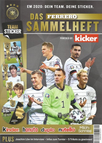 Ferrero Team Sticker EM 2020 - Stickeralbum