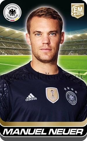 DFB Team Cards EM 2016 - Manuel Neuer