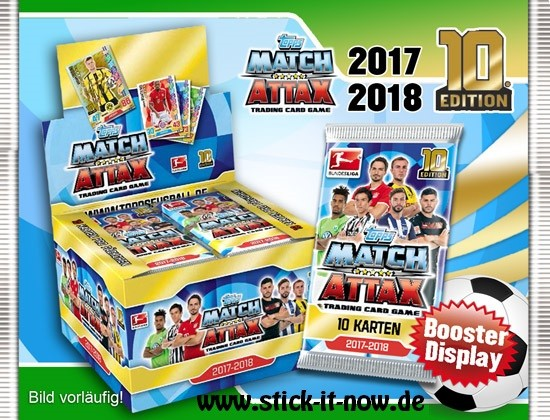 Topps Match Attax Bundesliga 17/18 - 1 Display (36 Booster mit je 10 Karten)