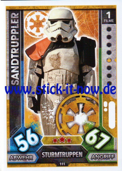 Topps Star Wars FORCE ATTAX UNIVERSE (2017) - Nr. 111