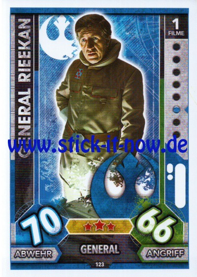 Topps Star Wars FORCE ATTAX UNIVERSE (2017) - Nr. 123