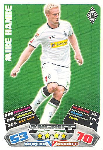 Match Attax 12/13 - Mike Hanke - Bor. M'gladbach - Nr. 232