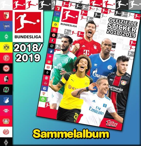 """Topps Fußball Bundesliga 18/19 """"Sticker"""" (2019) - Stickeralbum"""