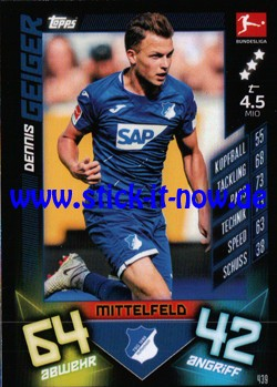 "Topps Match Attax Bundesliga 2019/20 ""Action"" - Nr. 439"