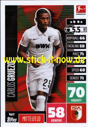 """Topps Match Attax Bundesliga 2020/21 """"Extra"""" - Nr. 427"""