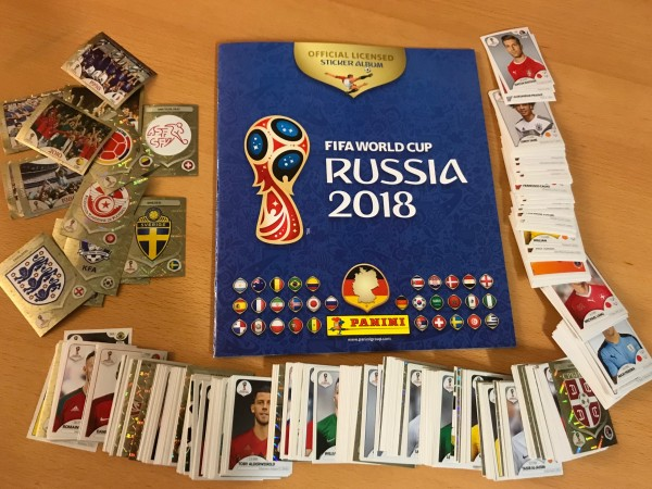 "Panini WM 2018 Russland ""Sticker"" - Komplettsatz ( alle 682 Sticker + Softcover Album )"