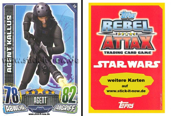 Rebel Attax - Serie 1 (2015) - AGENT KALLUS - Nr. 30