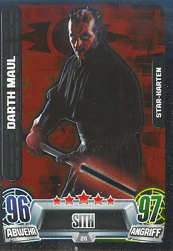 Force Attax Movie Collection - Serie 2 - Star-Karte - Darth Maul - Nr. 211