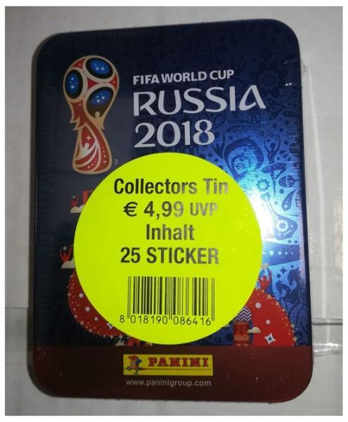 "Panini WM 2018 Russland ""Sticker"" - Sticker Tin ( 5 Tüten)"