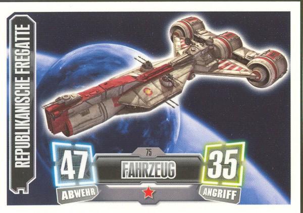 Force Attax - Serie II - Republikanische Fregatte - Fahrzeug