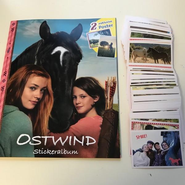 "Ostwind 4 ""Aris Ankunft"" (2019) - komplettsatz ( alle Sticker + Album )"