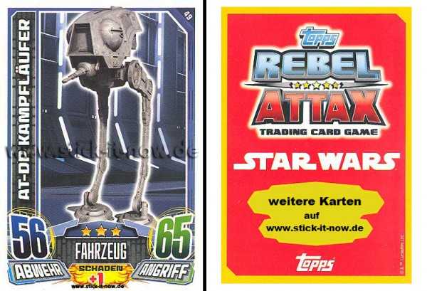 Rebel Attax - Serie 1 (2015) - AT-DP KAMPFLÄUFER - 49