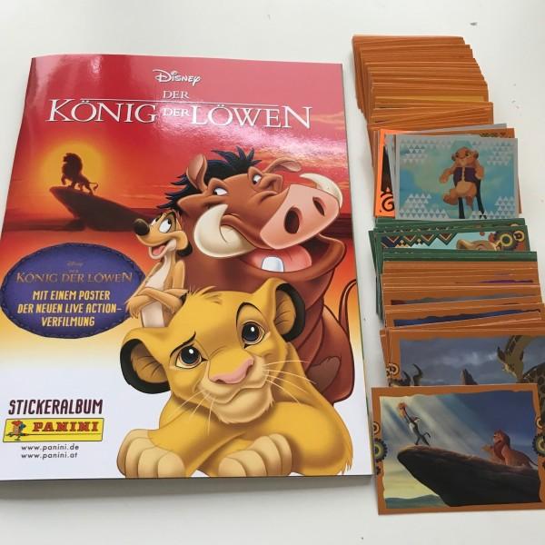 """Disney """"Der König der Löwen"""" (2019) - komplettsatz (alle 242 Sticker/Karten + Album)"""
