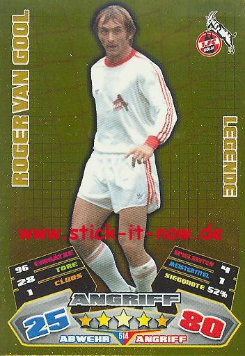 Match Attax 12/13 EXTRA - Roger van Gool - 1. FC Köln - LEGENDE - Nr. 514