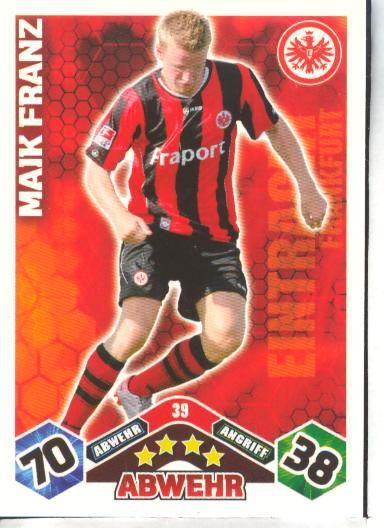 Match Attax 10/11 - MAIK FRANZ - 039