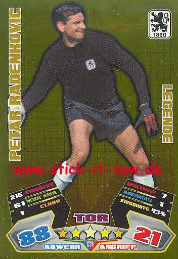 Match Attax 12/13 EXTRA - Peter Radenkovic - 1860 München - LEGENDE - Nr. 530