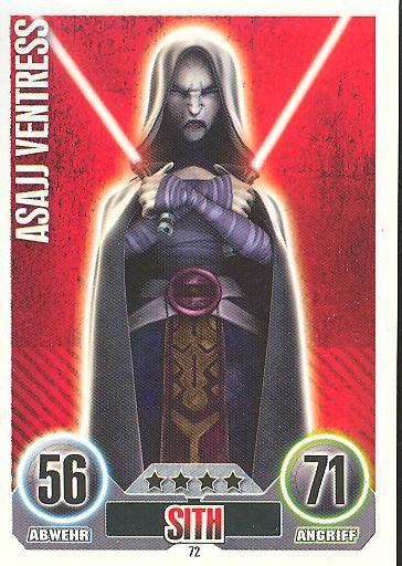 Force Attax 72-Asajj Ventress-Sith-Les séparatistes Série 1 2010