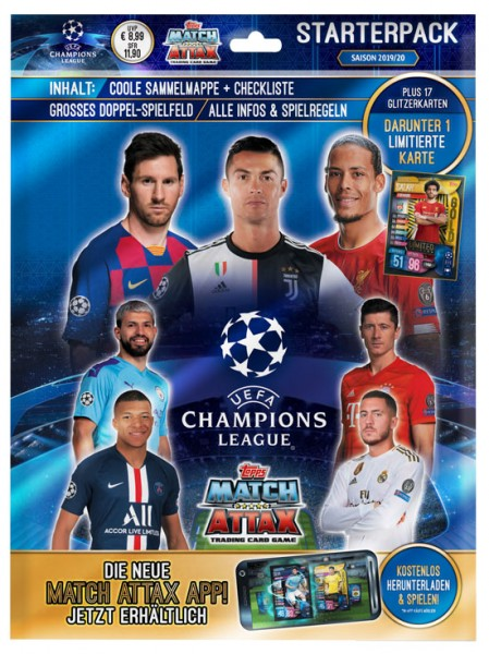 Match Attax Champions League 2019/20 - Starter-Set
