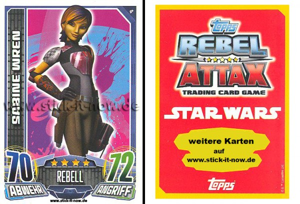 Rebel Attax - Serie 1 (2015) - SABINE WREN - Nr. 4