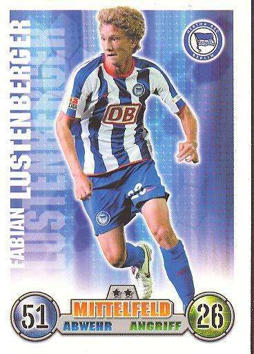 Fabian Lustenberger - Match Attax 08/09 - Hertha BSC Berlin