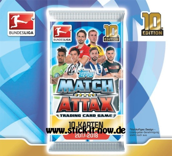 Topps Match Attax Bundesliga 17/18 - 1 Booster (10 Karten)