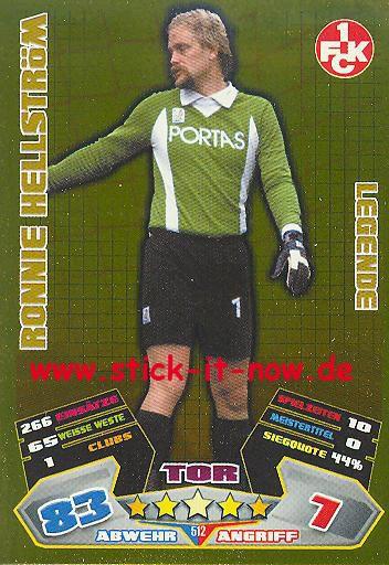 Match Attax 12/13 EXTRA - Ronnie Hellström - 1. FC K'lautern - LEGENDE - Nr. 512