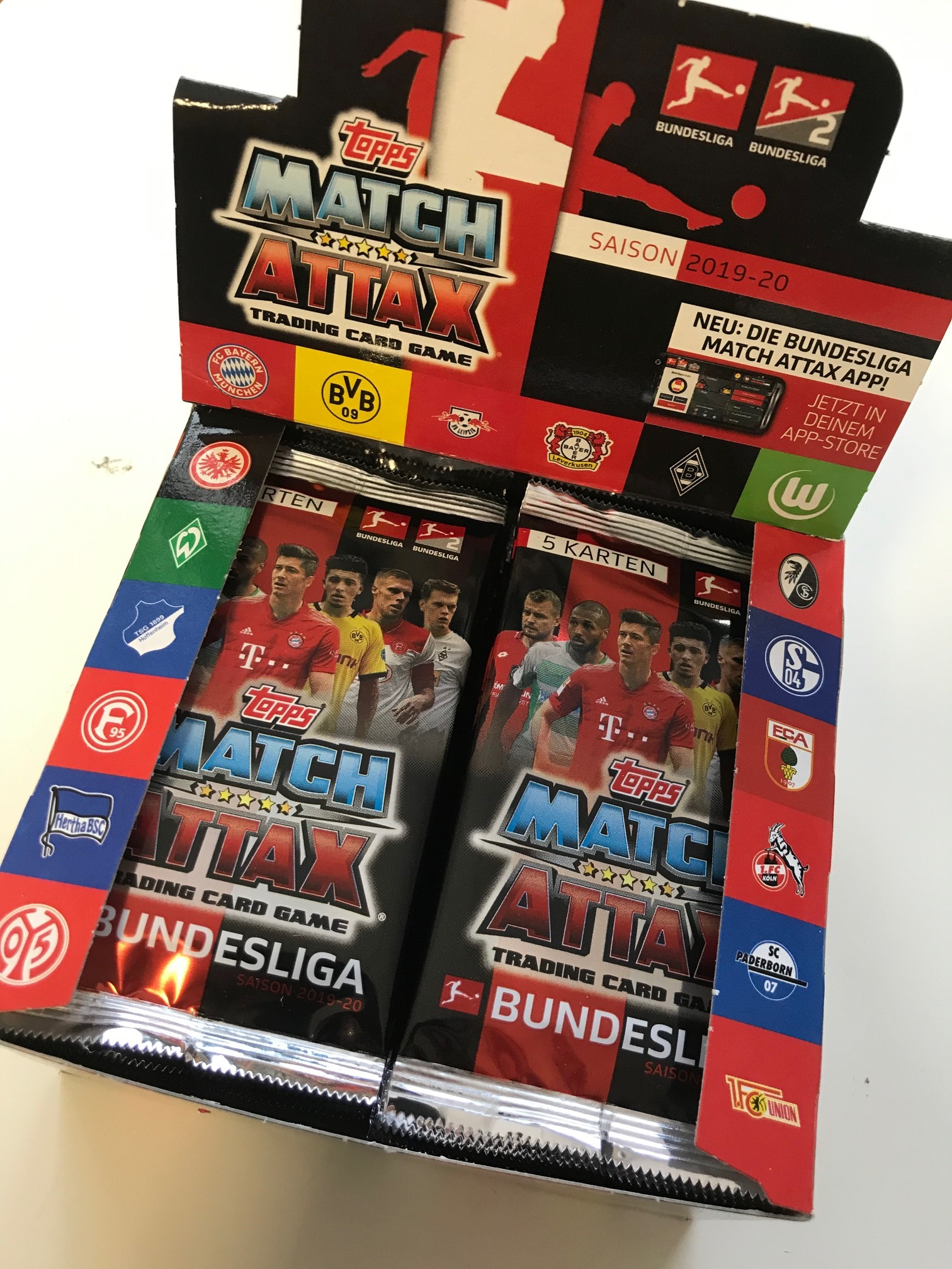 Topps Match Attax Bundesliga 2019 20 Display 50 Booster A 5 Karten