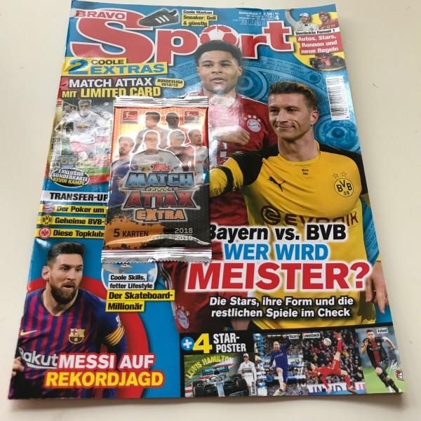 """Bravo Sport Nr. 4/2019 ( mit Booster Match Attax Extra """"L36"""" )"""
