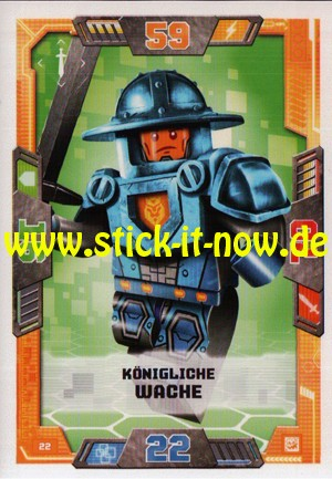 Lego Nexo Knights Trading Cards - Serie 2 (2017) - Nr. 22
