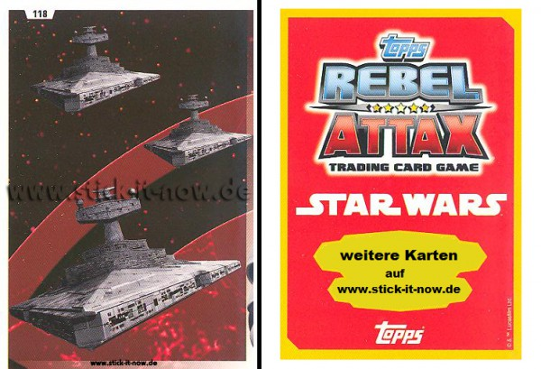Rebel Attax - Serie 1 (2015) - STRIKE-FORCE - DAS IMPERIUM 2 - Nr. 118