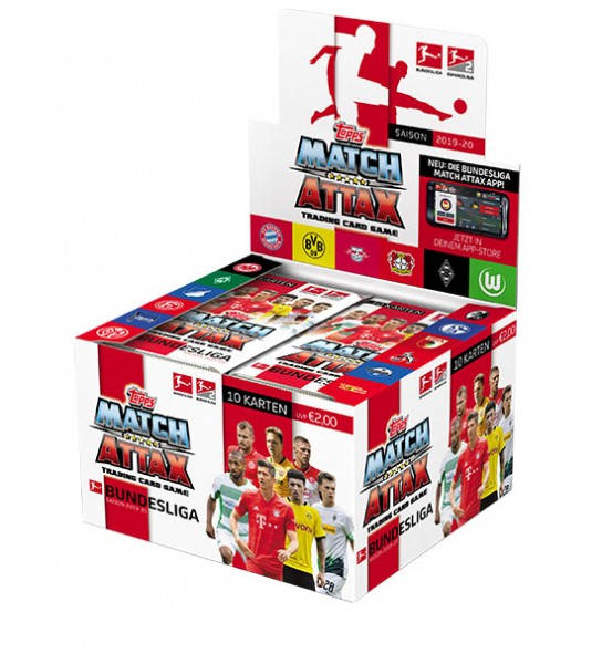 Topps Match Attax Bundesliga 2019/20 - Display ( 36 Booster á 10 Karten )