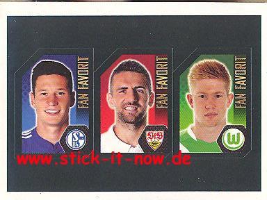 Topps Fußball Bundesliga 14/15 Sticker - Nr. F16 - F17 - F18