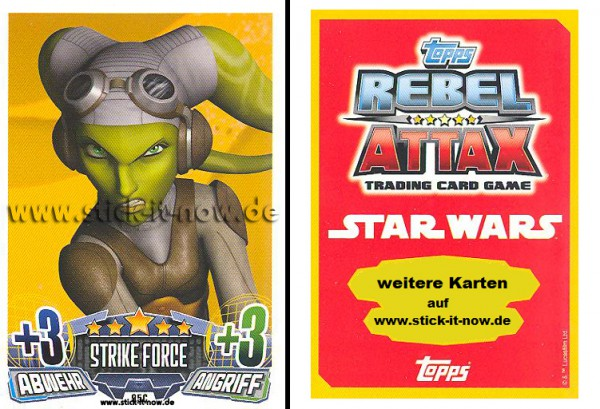 Rebel Attax - Serie 1 (2015) - STRIKE-FORCE - REBELLION 1 - Nr. 95C