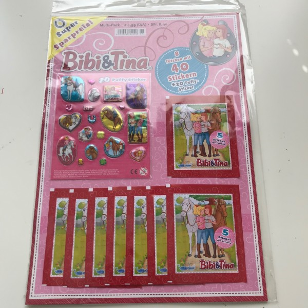 Bibi & Tina (2019) - Multipack ( 8 Tüten + 20 Puffy Sticker )