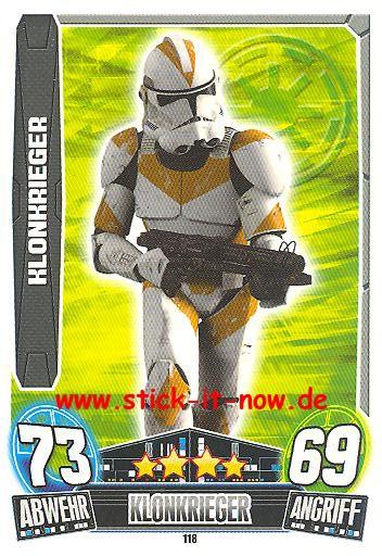 Force Attax Movie Collection - Serie 3 - KLONKRIEGER - Nr. 118