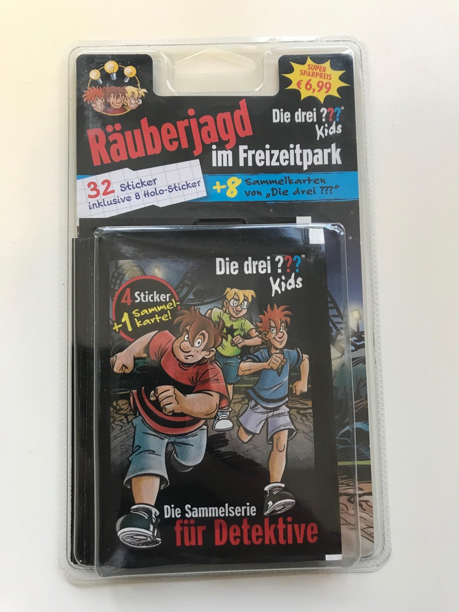 50 Tüten 250 Sticker /& Cards Blue Ocean Die Drei Fragezeichen ??