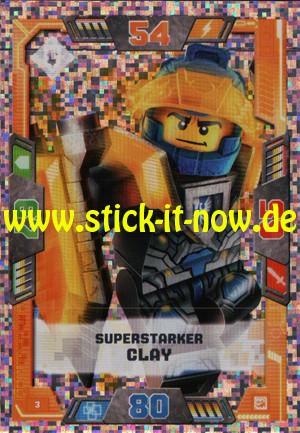 Lego Nexo Knights Trading Cards - Serie 2 (2017) - Nr. 3 (Glitzer)