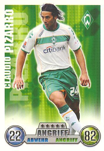Claudio Pizarro - Match Attax 08/09 - Werder Bremen