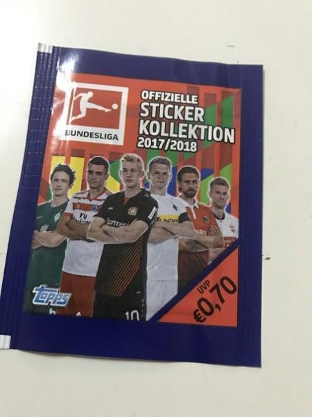 """Topps Fußball Bundesliga 17/18 """"Sticker"""" (2018) - Stickertüte (5 Sticker)"""