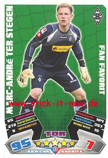 Match Attax 12/13 EXTRA - Marc-André ter Stegen - Bor. Mgladbach - FAN FAVORIT - Nr. 463